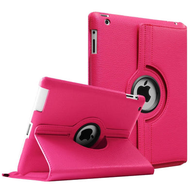 Regular 360 Degree Rotating Folio Apple iPad Air 1/2 Cases - Pink