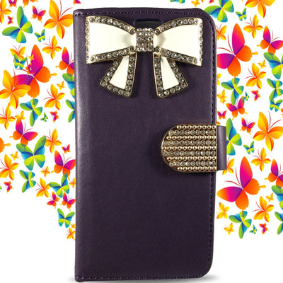 Credit Card Wallet for Samsung S6 Edge - Purple