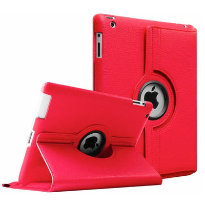 Regular 360 Degree Rotating Folio Apple iPad Air 1/2 Cases - Red