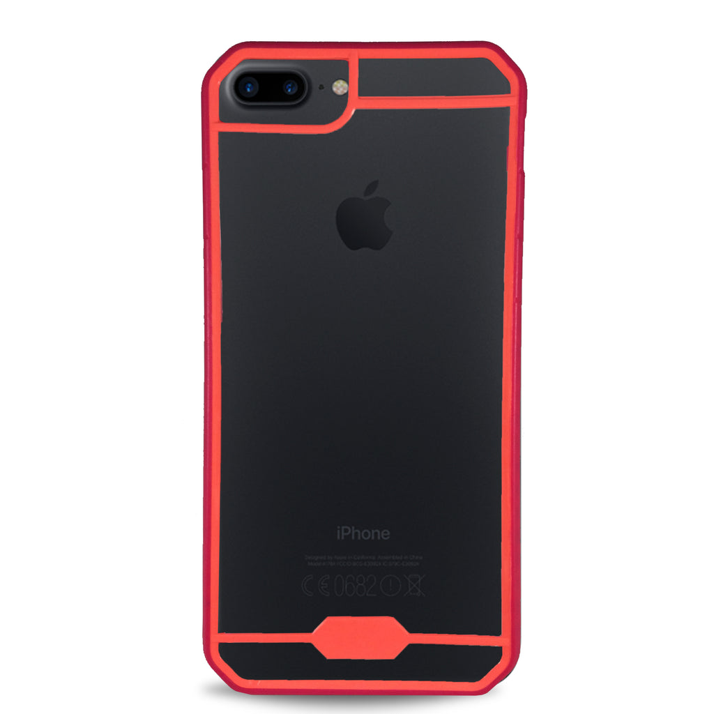 Frame Color Clear for iPhone 7 & 8  - Red