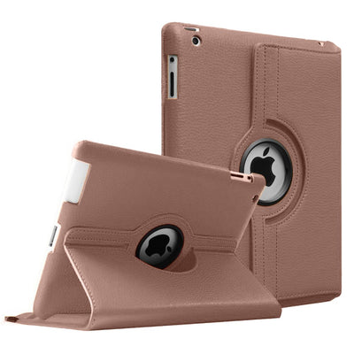 Regular 360 Degree Rotating Folio Apple iPad Air 1/2 Cases - Rose Gold