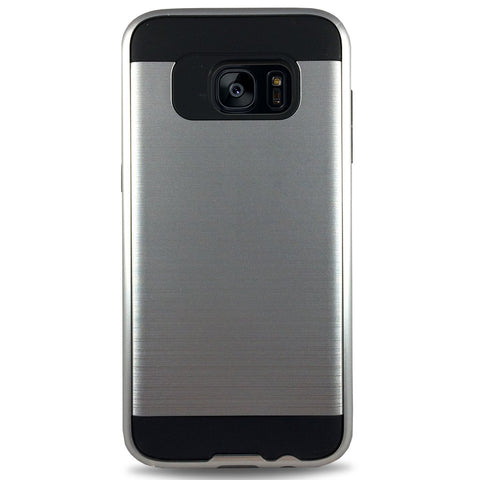 J & J Case for Samsung S7 Edge - Silver