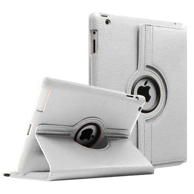 Regular 360 Degree Rotating Folio Apple iPad Air 1/2 Cases - Silver