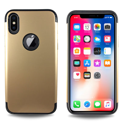 Carbon Trim Slim Case for iPhone X - Gold