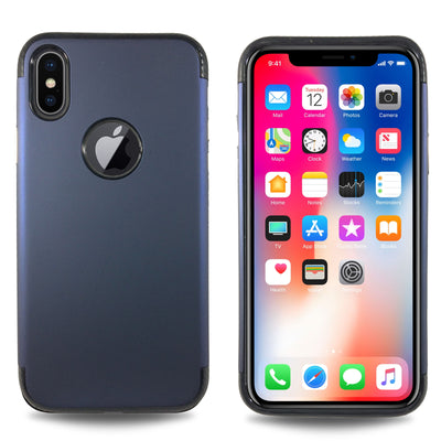 Carbon Trim Slim Case for iPhone X - Navy