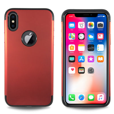 Carbon Trim Slim Case for iPhone X - RED