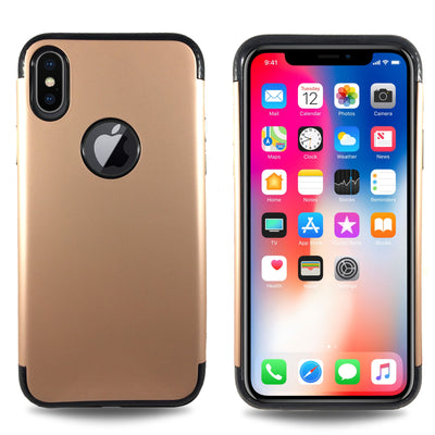 Carbon Trim Slim Case for iPhone X - Rose Gold