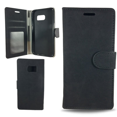 Suit Wallet Case for Samsung S6 Edge - Black
