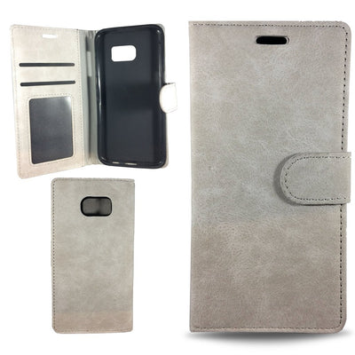 Suit Wallet Case for Samsung S6 Edge - Grey