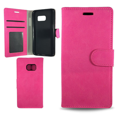 Suit Wallet Case for Samsung S6 Edge - Pink
