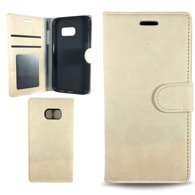 Suit Wallet Case for Samsung S6 Edge - White
