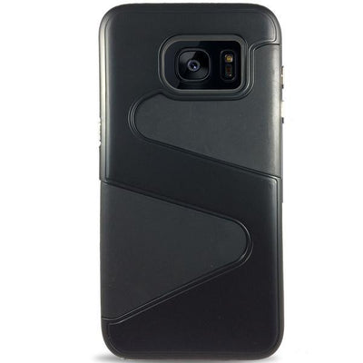 Wave Dual Layer Samsung Galaxy S7 Edge Case - Black