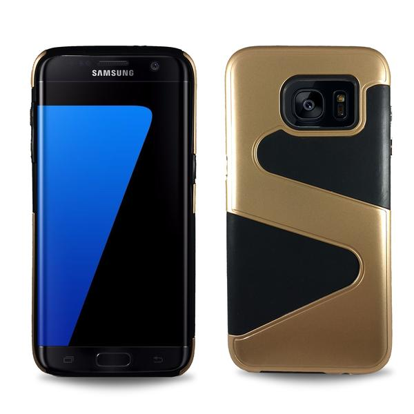 Wave Dual Layer Samsung Galaxy S7 Edge Case -  Gold