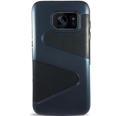Wave Dual Layer Samsung Galaxy S7 Edge Case - Navy