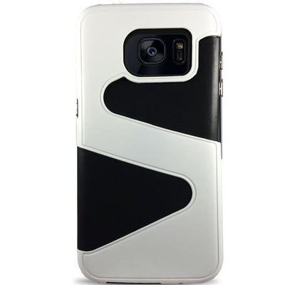 Wave Dual Layer Samsung Galaxy S7 Case - White