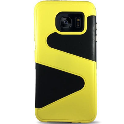 Wave Dual Layer Samsung Galaxy S7 Edge Case - Yellow