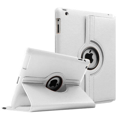 Regular 360 Degree Rotating Folio Apple iPad Air 1/2 Cases - White