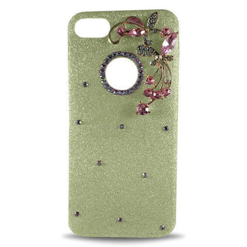 Dekkin Flower Glitter Apple iPhone 8 Plus/7 Plus Case - Gold