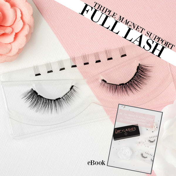 FULL NATURAL LASH By LUVLashes.Co - Reusable FULL Premium Magnetic Lashes