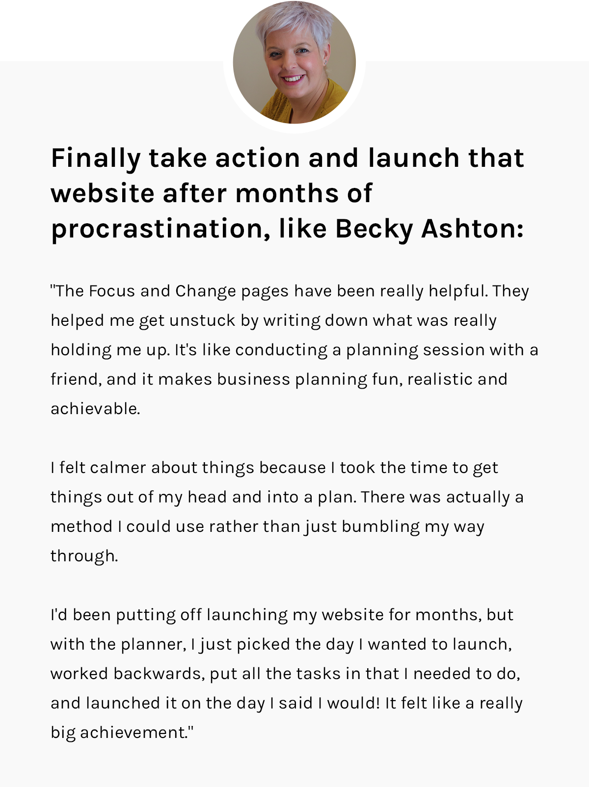 Becky Ashton and The Imperfect Life® Planner