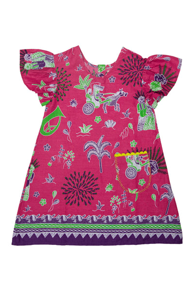 TINI FINI Pink Hopscotch Dress