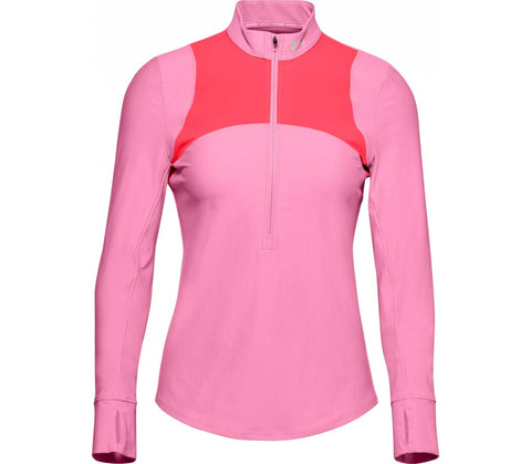 UNDERARMOUR QUALIFIER HALF ZIP PINK