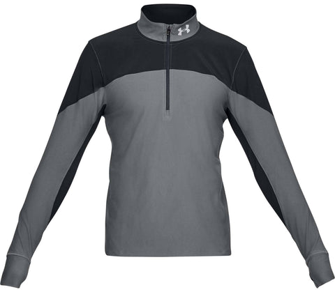 UNDERARMOUR QUALIFIER 1/2 ZIP GREY/BLACK