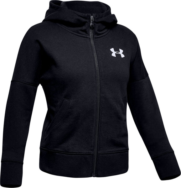 UNDERARMOUR GIRLS RIVAL FZ HOOD KIDS