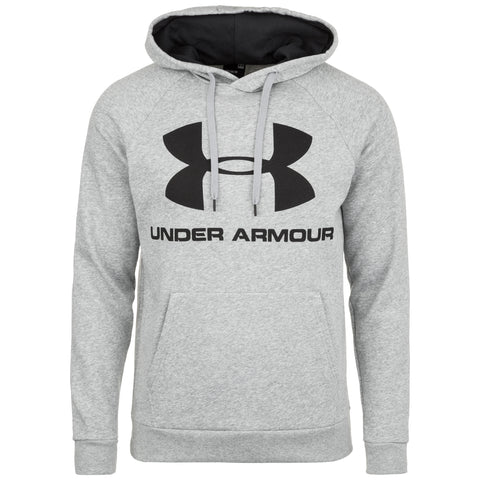 UNDERARMOUR RIVAL FLEECE LOGO HOOD GREY
