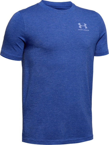 UNDERARMOUR COTTON SS TEE KIDS BLUE