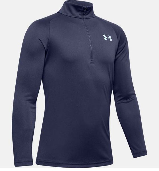 UNDERARMOUR TECH 2.0 1/2 ZIP YOUTHS BLUE