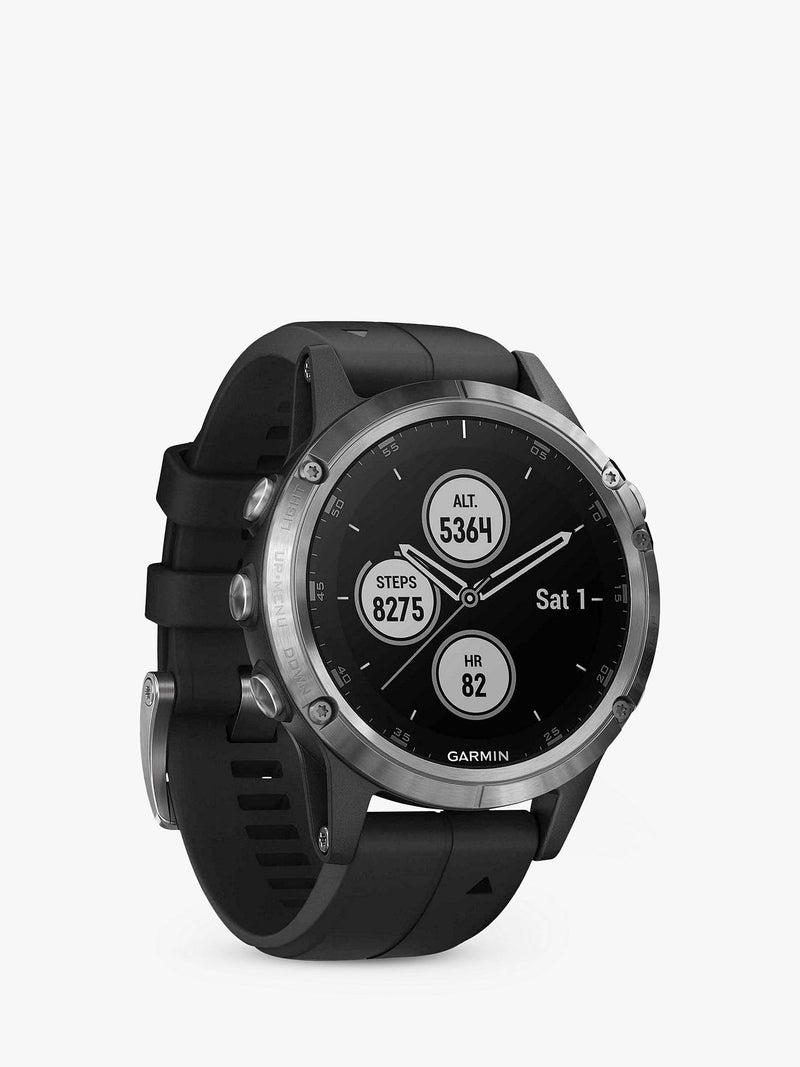Fenix 5 Plus Silver with Black Band