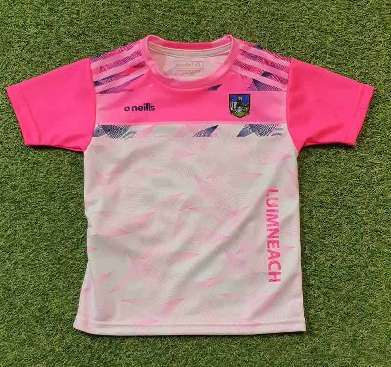 Limerick O'Neills Training Jersey Pink Youths