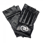FITNESS MAD LEATHER FINGERLESS BAG GLOVE BLACK
