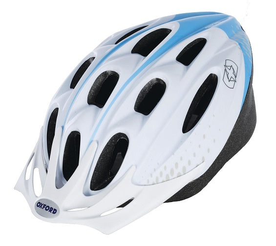 Oxford White/Blue Cycle Helmet