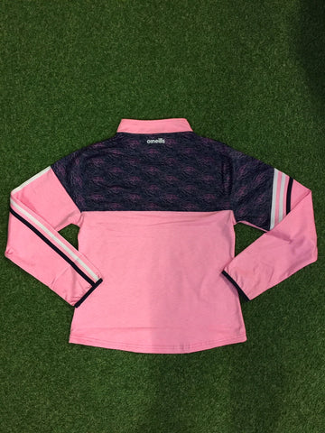 ONEILLS LIMERICK NEVIS PINK 122 BRUSHED HALF ZIP PINK LADIES