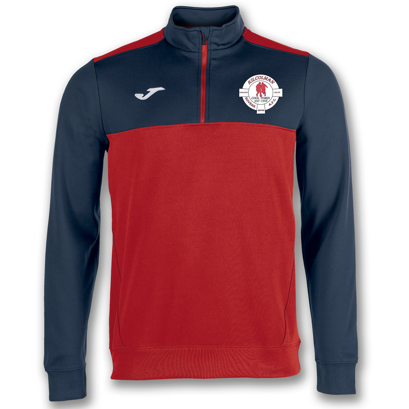 KILCOLMAN ROVERS A.F.C. SWEATSHIRT 1/2 ZIPPER WINNER RED-NAVY