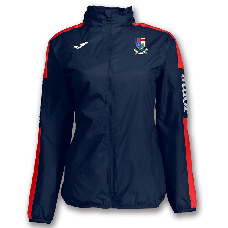 SHANNONSIDE F.C. RAINJACKET CHAMPIONSHIP IV NAVY-RED WOMAN