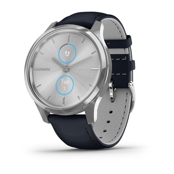 vivomove Luxe, Silver-Blue, Leather