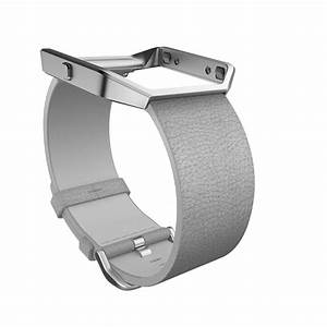 Fitbit BLAZE Accessory Band Leather Mist Grey Larg