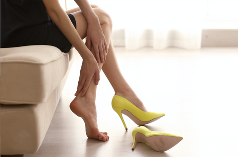 foot pain after wearing high heels