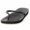 Aussie soles, arch support flip flops, black flip flops, flip flop with built up arch, flip flops with diamante, arch support sandals, slim strap flip flops