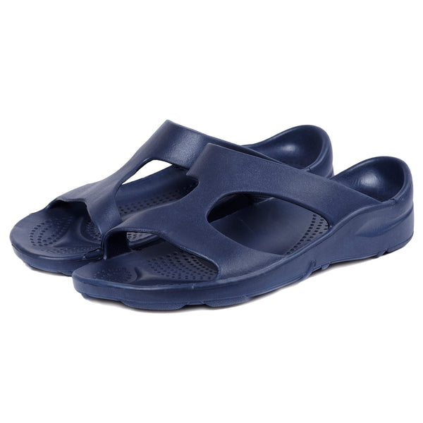 Aussie soles, Indy slide, mens plantar fasciitis sandal, best arch support sandal, vegan sandals, blue sandals, arch support slides, orthotic sandals