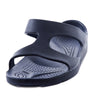 Aussie soles, Indy slide, Indy sandal, comfortable arch support sandal, sandals with built up arch, slides with built up arch, blue sandals,