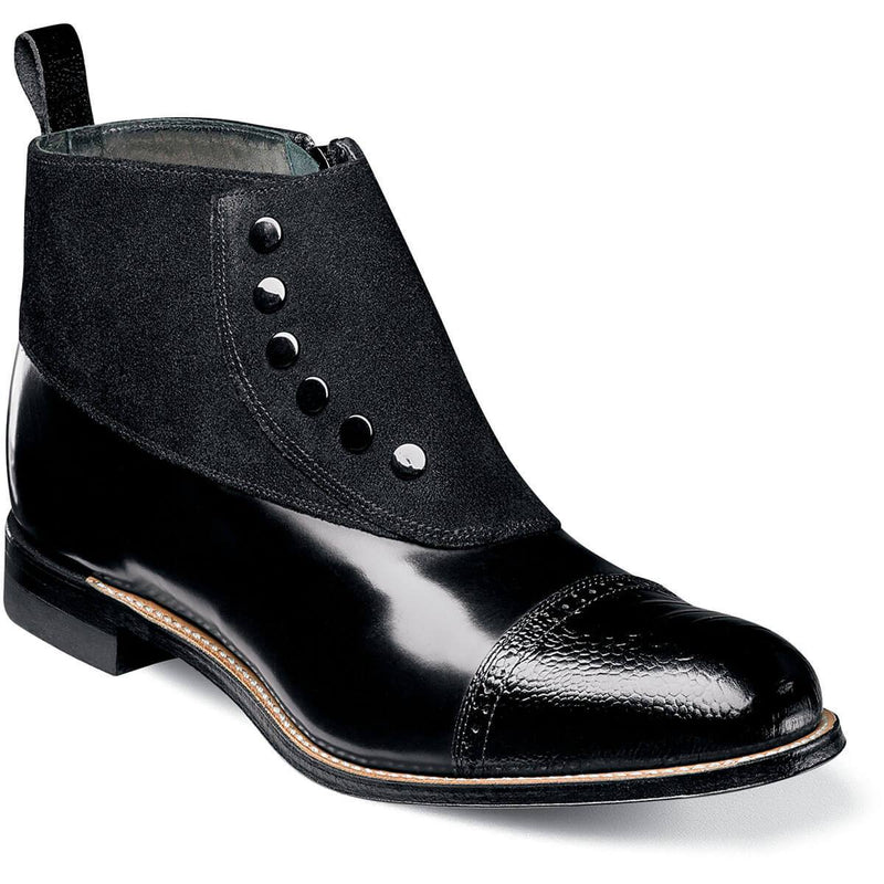 Stacy Adams Madison Side Zip Cap Toe Boot
