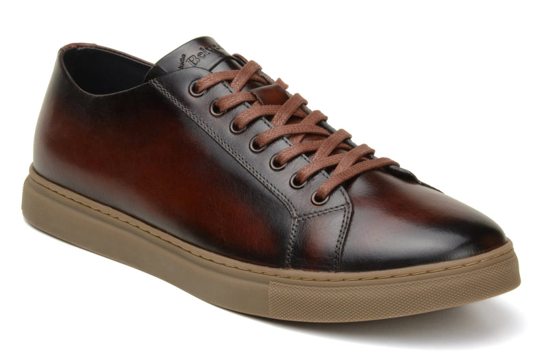 Belvedere Albert Genuine Alligator Men's Sneaker in Antique Cognac