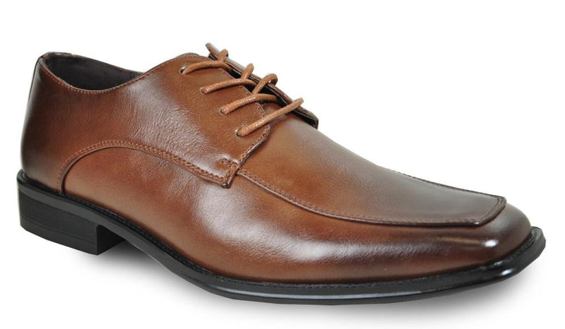 Bravo Milano-2 Square Moc Toe Dress Oxford in Brown
