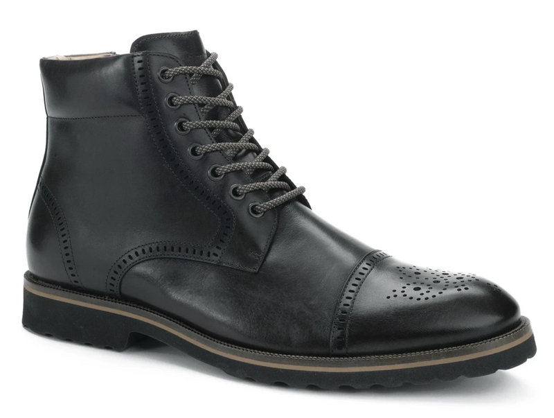 Belvedere Barry Black Leather Men's Boot