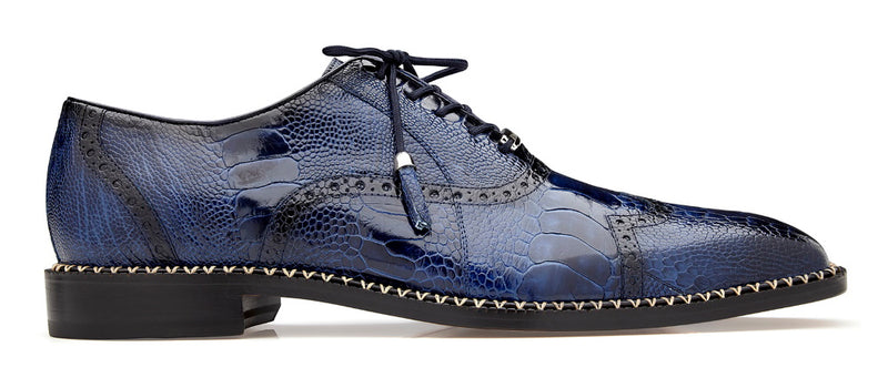 Belvedere Alex Exotic Wingtip in Antique Royal Blue
