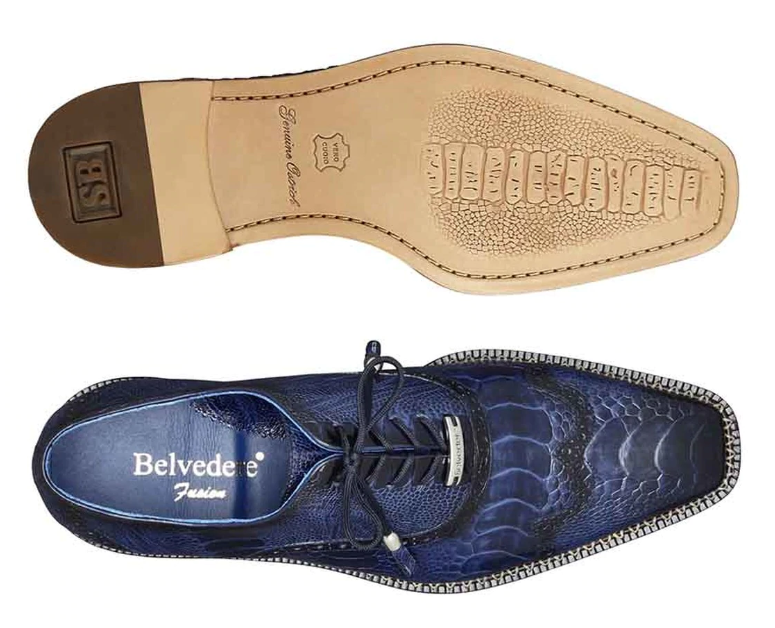 Belvedere Alex Men's Dress Shoe in Antique Royal Blue